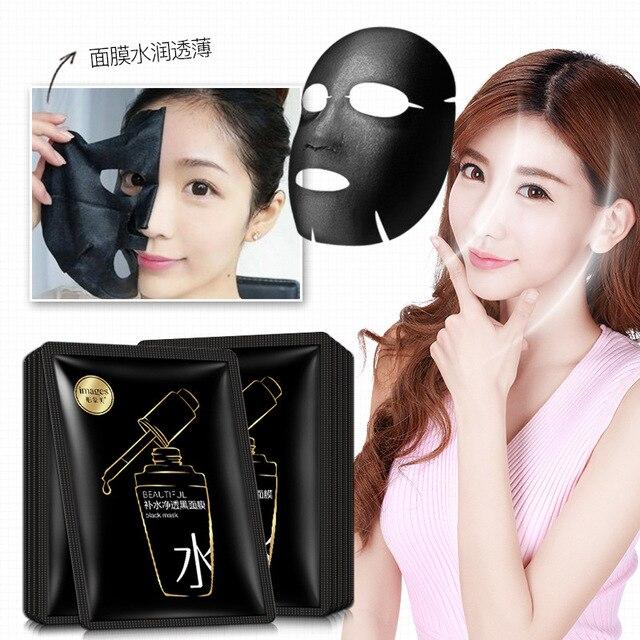 beauty moisturizing SHEET black FACE mask mascara facial acne black facial mask Acne Treatment Oil-control korean 2
