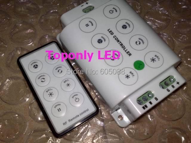 DC12 / 24v kompatibilní dálkový ovladač 4 v 1 rgbw led s dotykovým rozhraním + 8 kláves RF dálkový ovládací panel CE & ROHS hot sale