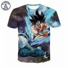 5XL Men 3D T Shirt Dragon Ball Anime T Shirts Ultra Instinct Son Goku Super Saiyan God Vegeta Print Cartoon Summer Top Tee Shirt