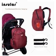 INSULAR Fashion Mummy Maternity Nappy Bag Brand Large Capacity Baby Bag Travel Backpack Desinger Nursing Bag for Baby Care