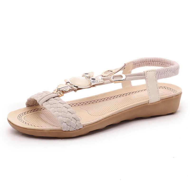 f83fc28bccb ... New Women Sandals Summer Fashion Flip Flops Female Sandals Flat Shoes  Bohemia Casual Ladies Beach SandalsWomen