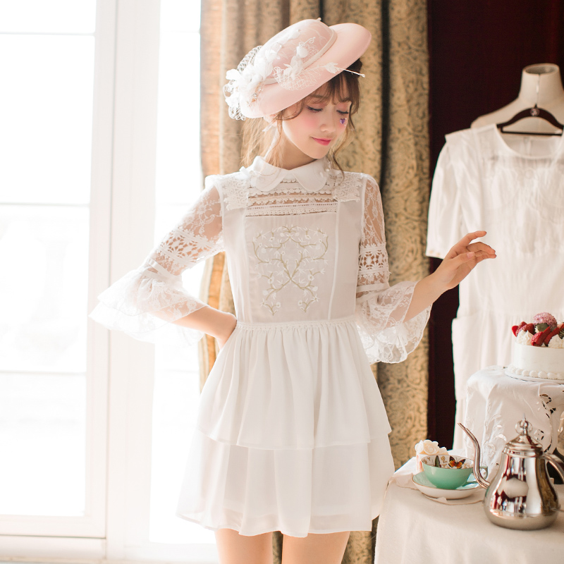 De Style Candy Japonais Dress Rain L'été Princesse C22ab7051 Lolita La Nouvelle Sweet Belle Blanc my8On0vNwP