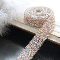 2センチ広いガラスビーズダイヤモンドチェーンdiyマニュアル髪フープ花嫁の結婚式装飾チェーン材
