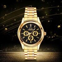 CHENXI Golden Clock reloj hombre marca de lujo Fashion Men watch full gold Stainless Steel Quartz watches Wrist Watch men 4750