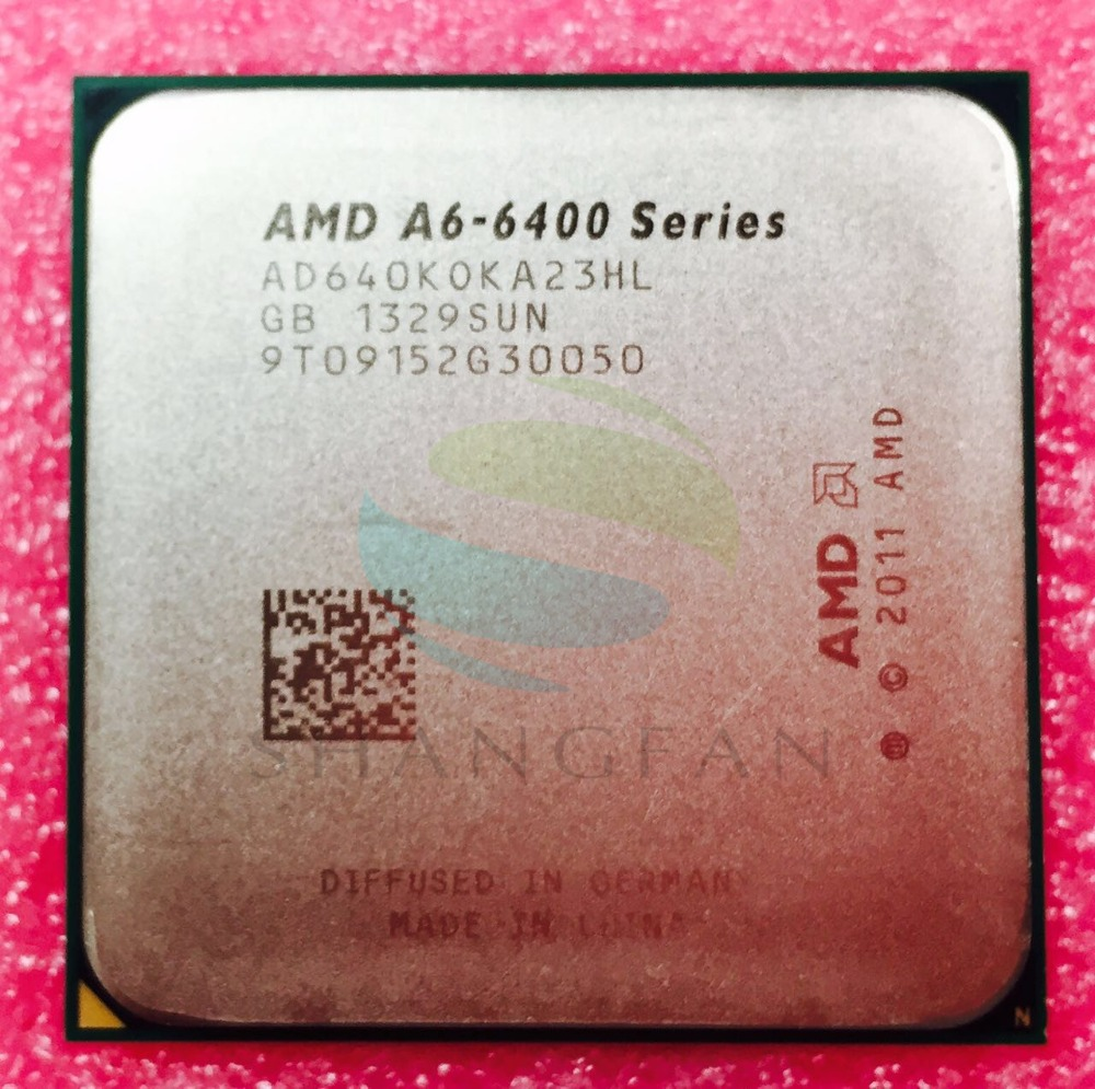 цена AMD A6 Series A6 6400 A6-6400 A6 6400K A6-6400K 3.9Ghz 65W Dual-Core CPU Processor AD640KOKA23HL Socket FM2