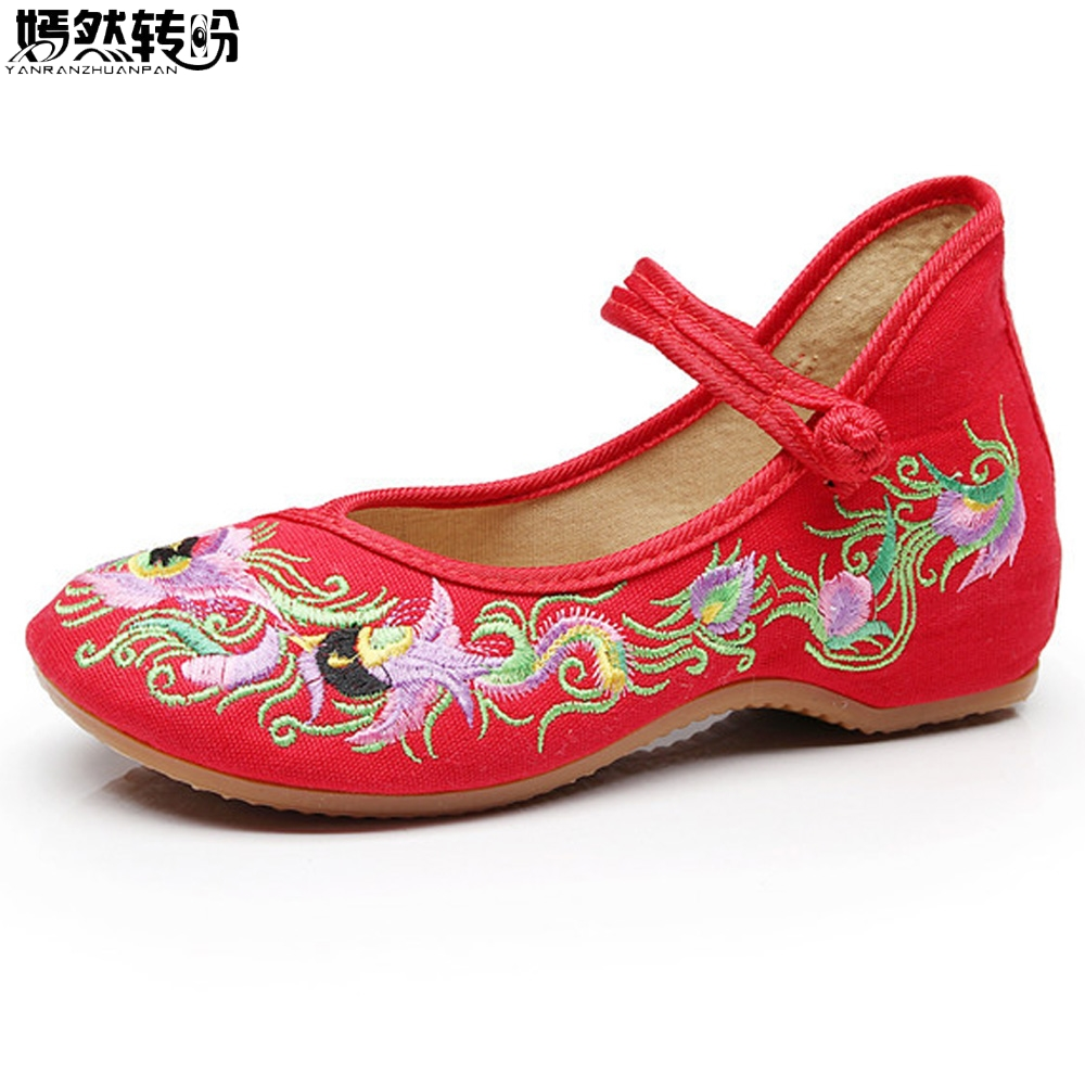 Vintage Women Flats Shoes Birds Floral Embroidery Cotton Comfortable Old Peking Ballerina Shoes Woman Sapato Feminino vintage embroidery women flats chinese floral canvas embroidered shoes national old beijing cloth single dance soft flats
