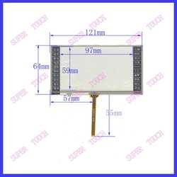 5 дюймов 121*64 экран e-book машинного обучения сенсорный экран Четыре провода контактной сварки интерфейс