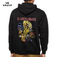 YK ONKEL Mit Kapuze Sweatshirts Marke 2017 Neue Männer/Frauen Iron Maiden Metal Band Hinter Druck Streetwear Hoodies Pullover XXXL