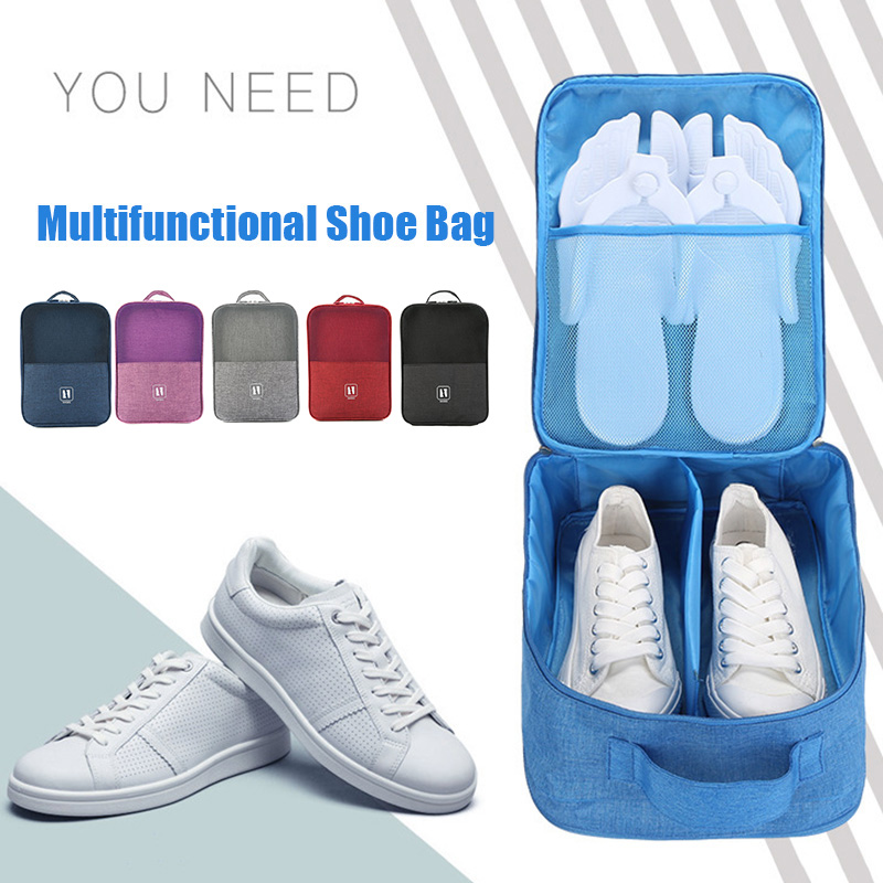 3 in 1 Travel Shoe Bags Odorless Foldable Waterproof Shoe Storage Pouch Wide Application Save Place Organizer Bag P7Ding image