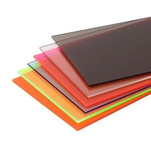 Image 2 - 1 قطعة زجاج شبكي مجلس متعدد الألوان الاكريليك ورقة الزجاج العضوي لتقوم بها بنفسك نموذج صنع المجلس 10x20cm