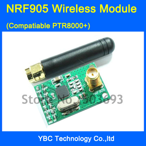NRF905 Wireless Module (compatiable PTR8000+) Transmission Transceiver 433/868/915MHz - YBC Technology Co.,ltd store