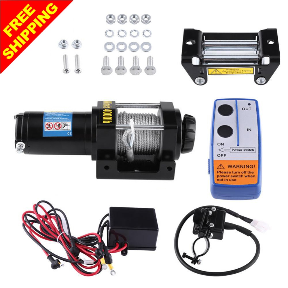 Atv Winch Switch Wiring Diagram For Woods Reinvent Your 4000lbs Electric Cable Pull Motor Kit Set Auto Load Rh Aliexpress Com Gorilla Schematics