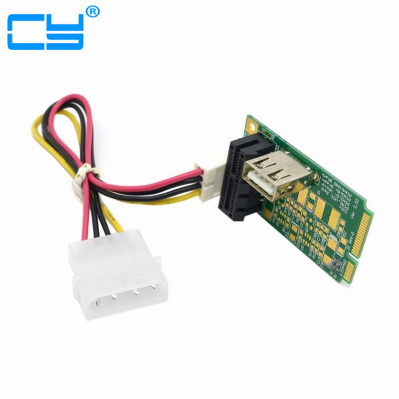 Free shipping Mini PCI-E to PCI-E x1 pci Express 1X Extension Cord mini pcie to pcie Adapter Card with USB Riser Card free shipping s9 t9 controlboard xc7z010 socket 754 pci express x16 tested well