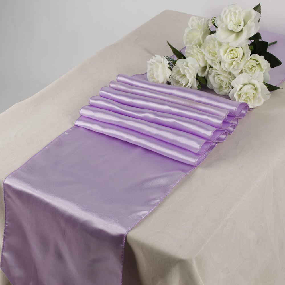 Captivating New Arrival Satin Table Runners Lavender 30x275cm Table Runners For Wedding  Favors Party Decors Home Decorations