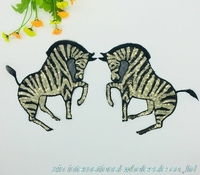 2pcs DIY Accessories For Garment Decoration Military Patch Zebra Animal Embroidery Patches Mending Clothes Patches For