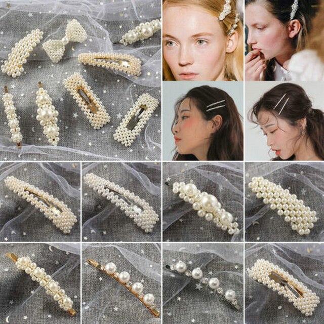 Fahsion Cute Women Girl Pearl Barrette Barrette Hair Pin Hair Clip Hair Accessories  by Yanqueens
