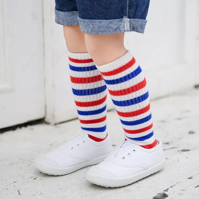 New-autumn-socks-Kids-Long-Socks-Knee-High-toddler-Girls-Boot-Sock-Leg-Warmer-Cute-striped-Black-baby-Cotton-Sock-for-baby-girls-3