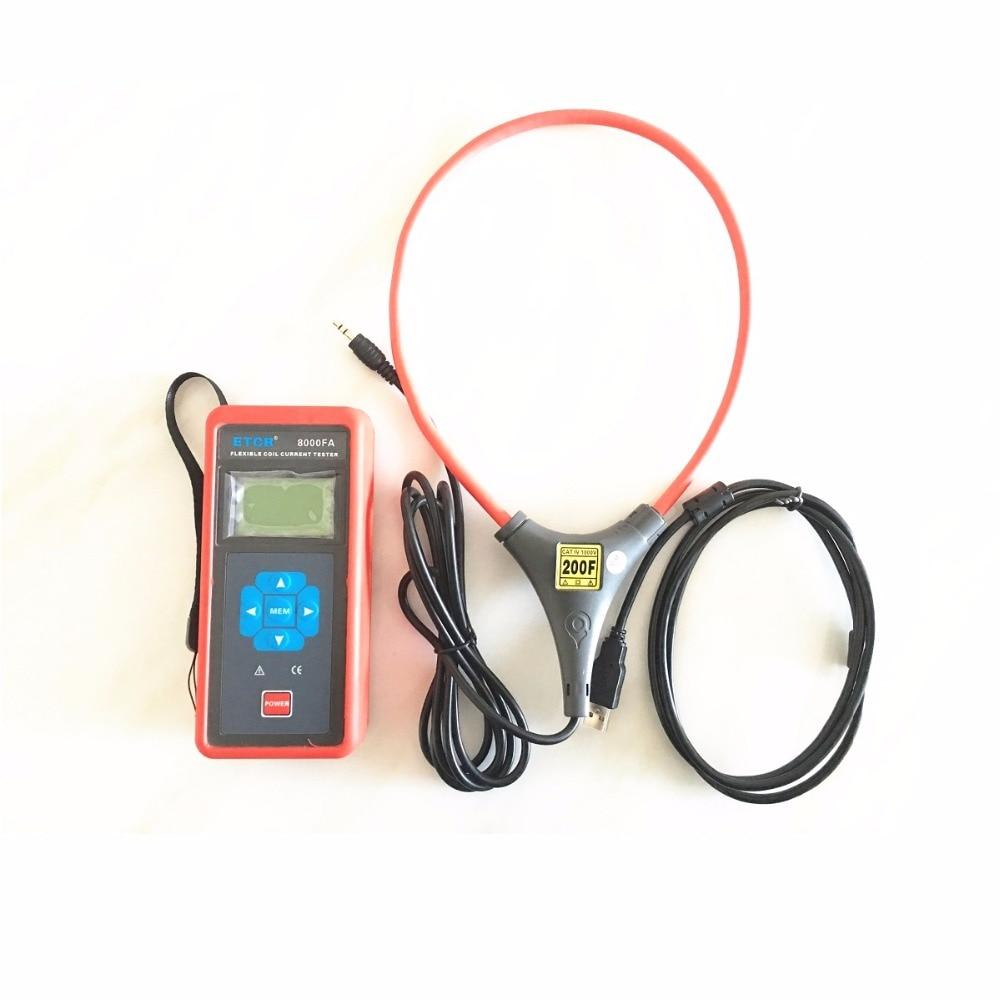 ETCR8000FA flexible bobine grande pince de courant/enregistreur Testeur de Courant Ampèremètre