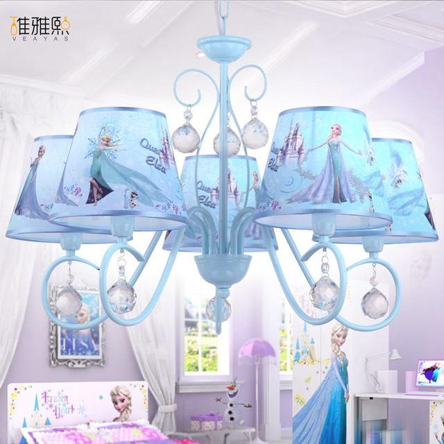 Lovely Die Kronleuchter Kreative Cartoon Beleuchtung Kinder Lampen Und Eisen  Beleuchtung Kinder Lampe Blauen Kristall Kronleuchter