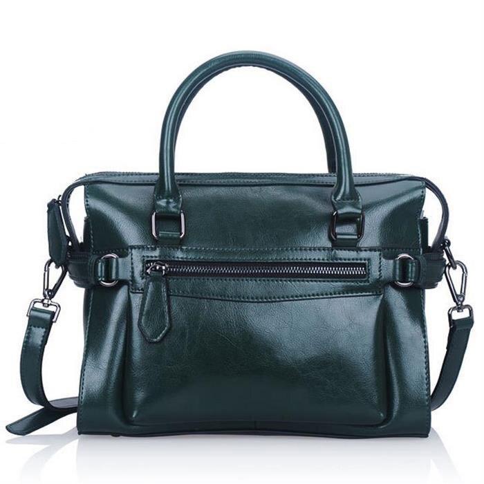 ФОТО Oil Wax Leather Women Handbag Vintage Tote Fashion Shoulder Bag Crossbody Bag Hot Genuinr Leather Bag Bolsas vogue Messenger Bag