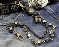 Dice Link Trucker Rocker Biker Wallet chain Mens Metal Pants Jean Puese safe Chain