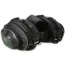 2x Black Motorcycle Saddle Bags Luggage Pannier Waterproof  Helmet Tank 36-58L Load Bearing 6KG