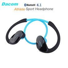 DACOM спортсмен NFC беспроводные ушной крючок Спорт Bluetooth 4.1 наушник устойчивое Беспроводные Hi-Fi бас наушники с микрофоном