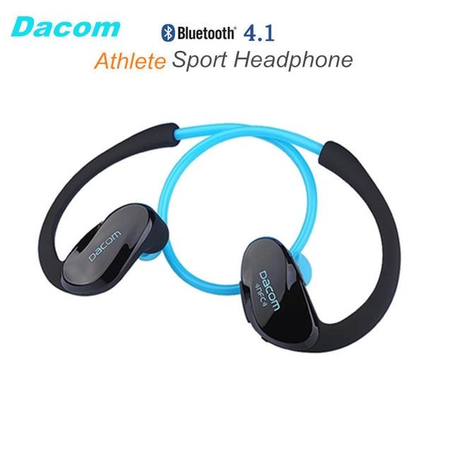 Dacom Athlete NFC Cordless Ear Hook Sport Bluetooth 4.1 earpiece Sweatproof Mini Wireless Hifi Bass Headphones With Microphone