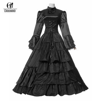 Vestido negro largo gotico