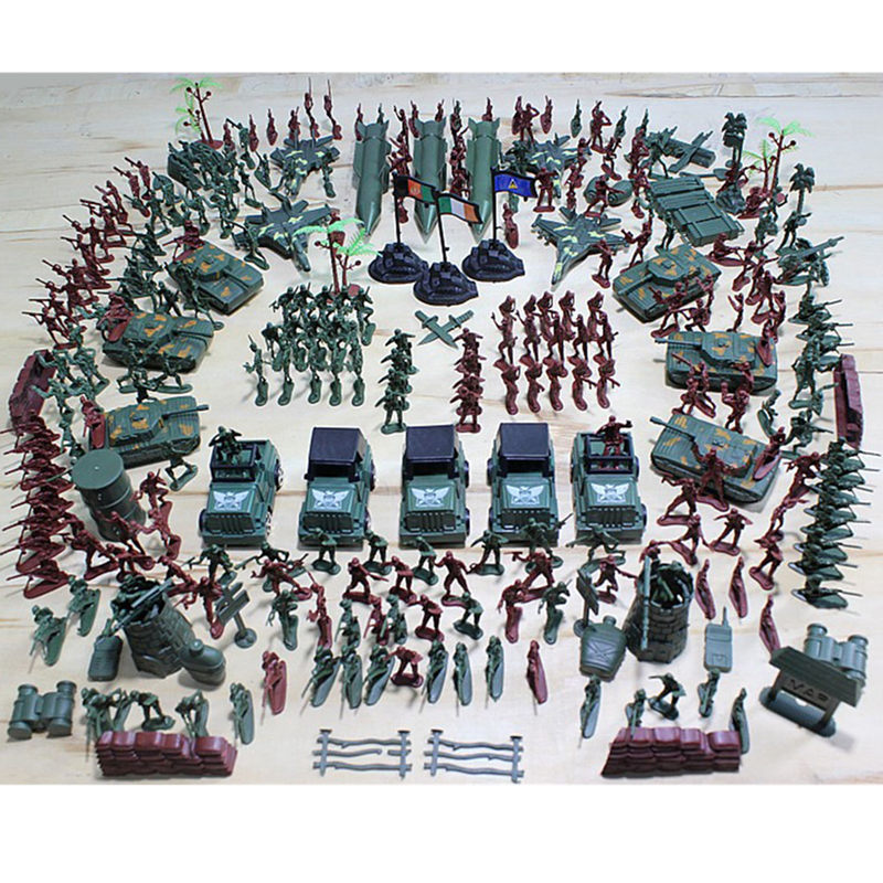 307Pcs Soldier Kit Grenade Tank Aircraft Rocket Army Men Sand Scene Model free shipping super affordable military base 310pcs set plastics toy soldier sand table model army soldier boy christmas gifts