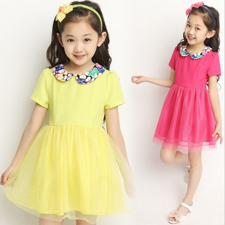 3 12 years yellow red purple teenagers clothes flower collar chiffon 3 12 years yellow red purple teenagers clothes flower collar chiffon ball gown princess dresses summer teens garment in dresses from mother kids on mightylinksfo