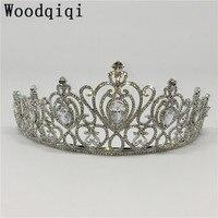 Woodqiqi acessorios de cabelo para as mulheres wedding hair head kroon peigne cheveux femme coronas de reina tiaras e coroas