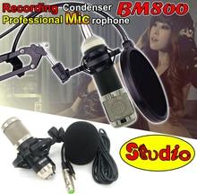 Professional BM800 Recording Condenser Microphone Studio Mic Mike Mikrofon For Karaoke Broadcast Microfone Com Fio Microfono PC