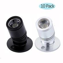 10 шт./лот 1 Вт 3 Вт Мини светодиодный потолочный светильник для шкафа поверхностного монтажа Встраиваемая лампа AC110V 220 в холодный теплый белый включает светодиодный драйвер