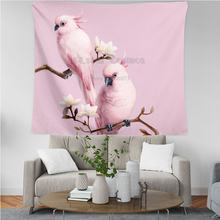 PLstar Cosmos Tapestry Parrot Flower 3D Printing Tapestrying  Rectangular Home Decor Wall Hanging New style 8