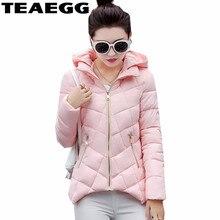TEAEGG Women's Winter Jackets 2017 Casual Slim Winter Jacket Women Parka Mujer Womens Clothing Outwear Warm Coat Parka FemmeAL66