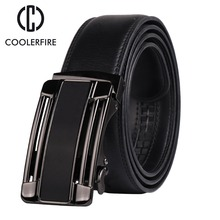 COOLERFIRE Fashion genuine leather belts automatic buckle strap male belt for men  style waistband ZD066