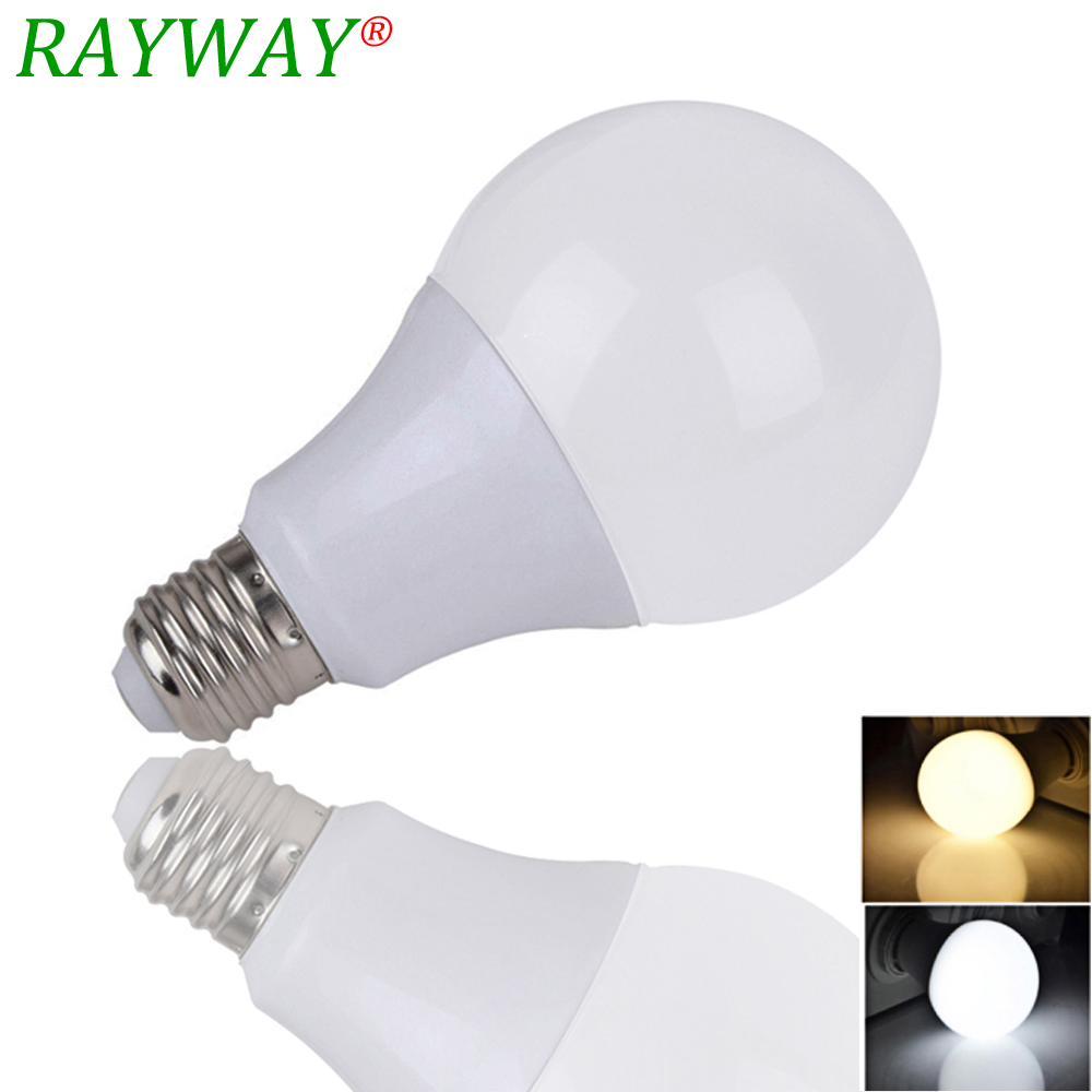 RAYWAY Lampada Ampoule Bombilla LED Bulb E27 3W 7W 9W 12W 15W SMD 2835 Led Light Bulb AC 220V Cold Warm White Led Spopt lihgt