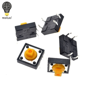 Image 4 - WAVGAT 25PCS Tactile Push Button Switch Momentary 12*12*7.3MM Micro switch button + 25PCS Tact Cap(5 colors) for Arduino Switch