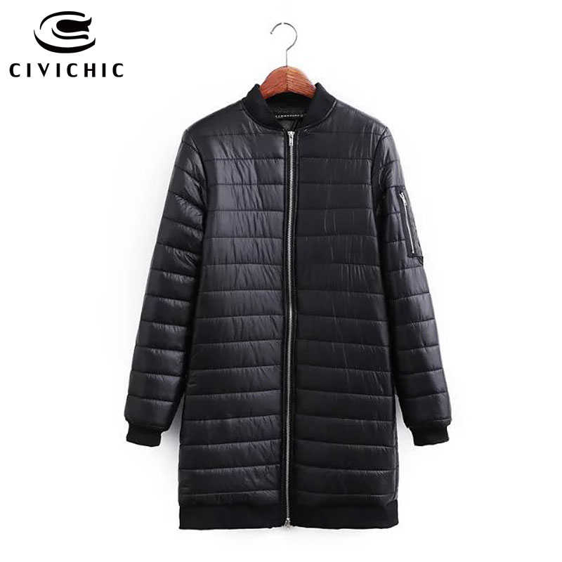 CIVICHIC Top Grade Brand Winter Warm Coat Fashion Lady Clothing Slim Long Ultra Light Down Jacket Soft Eiderdown Outerwear DC538