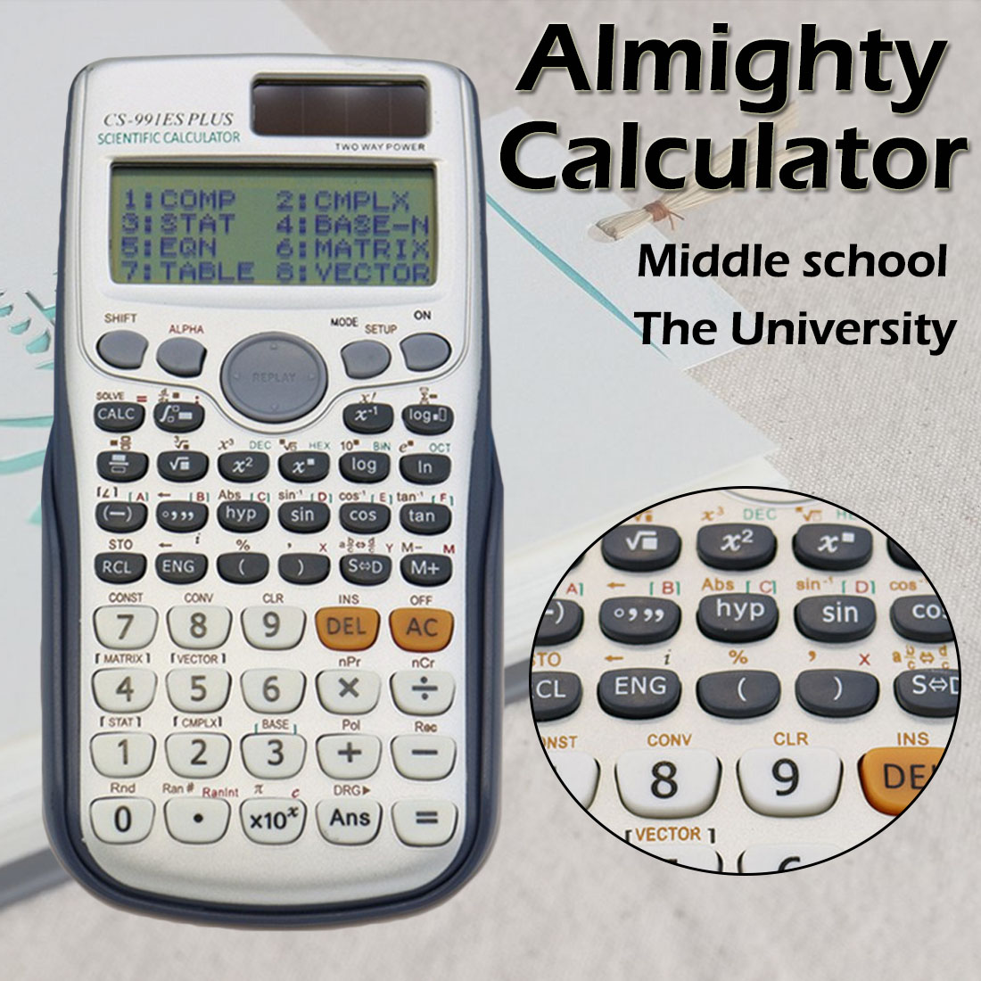 Muitifunction Scientific Calculator Dual Power With 417 Functions Dual Power Calculadora Cientifica Student Exam Calculator
