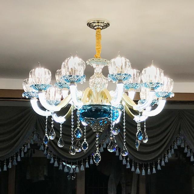 European Crystal Chandelier Living Room Bedroom Lamp Modern ...