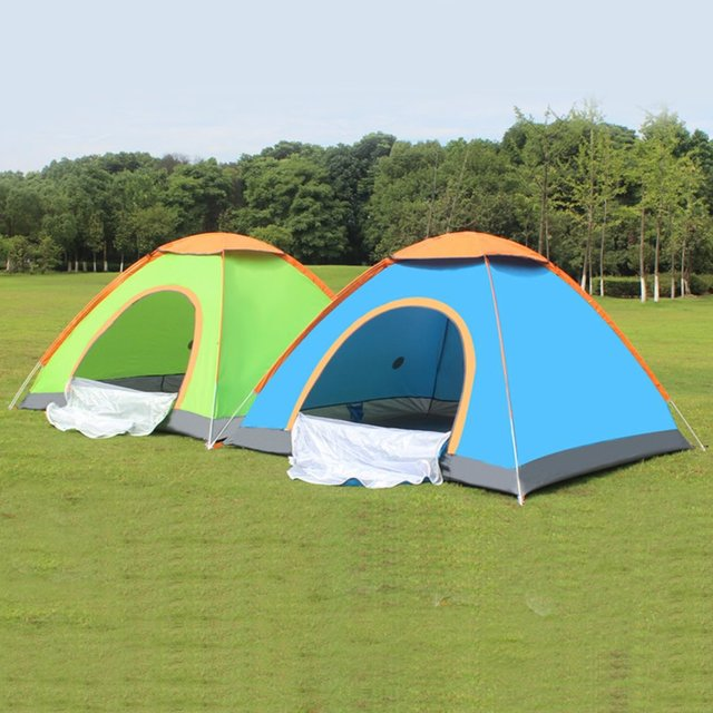 Outdoor Lazy Tents Portable 3-4 Person Automatic Tent Fast Folding Waterproof Anti-UV & Outdoor Lazy Tents Portable 3 4 Person Automatic Tent Fast Folding ...