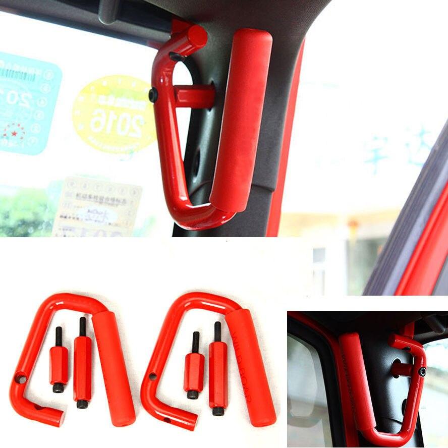 Front Passenger Grab Handles 2&4 Door Grab Bars Interior Car Accessories For Jeep Wrangler Sahara Sport Rubicon JK 2007 2016