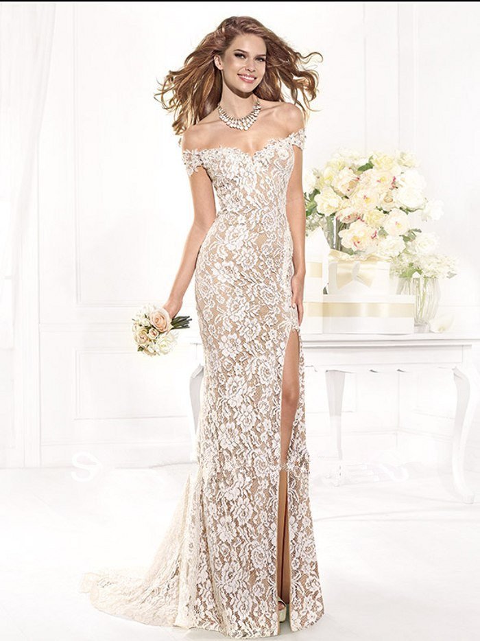 New Arrival Formal Gowns Evening Long Lace Evening Gown Elegant Plus Size Evening Gowns Beautiful Evening Dresses 2014