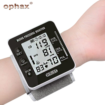 OPHAX Digital Wrist Blood Pressure Monitor Digital BP Pulse Rate Meter Measuring Automatic Sphygmomanometer Health Care Products