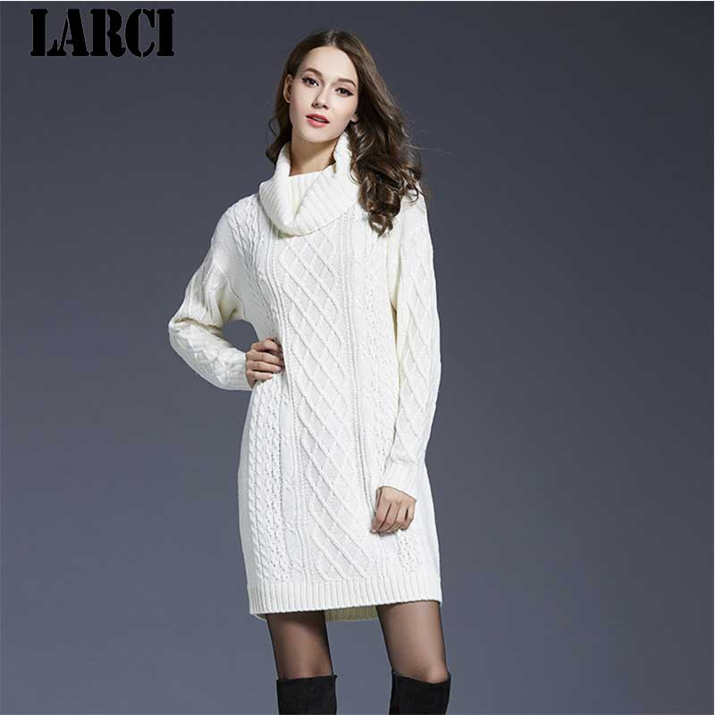 LARCI 2018 Spring Long Sleeve Sweater Dress Women Sexy Slim Bodycon Knitted Dresses Skinny Party Dress Female Vintage L1503061