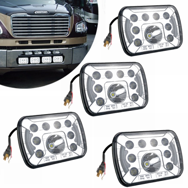 5''x7'' 6''x7'' Hi/Low Led Headlights for Jeep Wrangler YJ Cherokee XJ H6054 H5054 H6054LL 69822 6052 6053 with Angel Eyes DRL 5 x7 6 x7 high low beam led headlights for jeep wrangler yj cherokee xj h6054 h5054 h6054ll 69822 6052 6053 with angel eye
