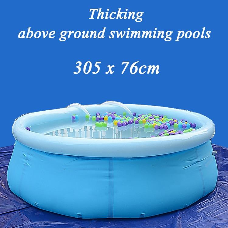 Grande piscine gonflable ronde extérieure pour adultes piscine familiale surdimensionnée épaississement 305*76 cm piscines hors sol