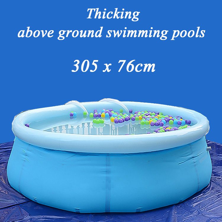 Outdoor Large round inflatable swimming pool for adult Oversized family pool thickening 305*76cm above ground swimming pools big inflatable swimming pool for water walking ball zorbing balls inflatable adult ground square swimming playground